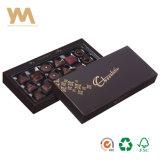 Custom Handmade de cartón rígido de la caja de chocolate con la bandeja