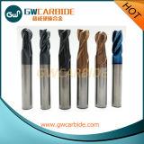 4 molinos de extremo sólidos del carburo de las flautas