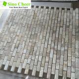 Mattonelle di mosaico di marmo bianche a forma di di buon disegno del mattone del pavimento o della parete
