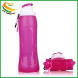 500m; BPA geben Silikon-Plastikfaltbare Wasser-Flasche frei