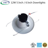 12W 6 pulgadas Triac Downlight LED regulable