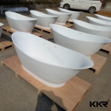 Vasca da bagno di pietra di superficie solida acrilica del fornitore della Cina per il progetto dell'hotel