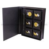 De color negro de lujo hechos a mano cajas de papel para Mooncake/Snack