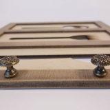 صنع وفقا لطلب الزّبون [أم] غلّة كرم خشبيّة مطبخ يعلّب زخرفة
