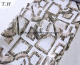 Patrón rectangular de Sofa Jacquard tejido chenilla sin