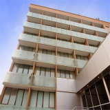 Балкон тонированный 12мм закаленное стекло Безрамные Поручень из нержавеющей стали установки исправлений