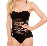 Neue Form-Entwurfs-Blume gekopierte Bikini-Badebekleidung Siamesed Swimsute