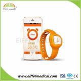 De digitale Draadloze Slimme Thermometer van het Horloge Bluetooth voor Baby in Nacht
