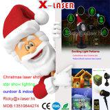 Rouge + vert de modèle de module de projecteur de lumière laser de lumière de Noël déménageant la lumière de jardin de huit fleurs
