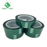 Pet resistentes al calor de la cinta Cinta de poliéster verde// la cinta de silicona para recubrimiento de polvo