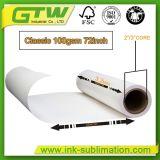 Größen-Sublimation-Papier des Rollen100gsm für Polyester-Drucken