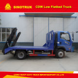 caminhão Flatbed do dever claro de 5t 6wheelers Cdw 4X2 baixo