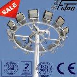 mastro elevado de 30m com luzes do diodo emissor de luz