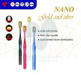 Marca de Distribuidor Anti-Bacteria Nano Ouro e Prata Nano Escova de dentes