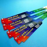 Wristbands adesivos Ultralight descartáveis do fechamento de MIFARE EV1 RFID