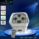 6X18W 6in1 RGBWA+UV 무선 배터리 전원을 사용하는 Wedding Uplight가 직업적인 편평한 동위에 의하여 점화한다