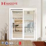 Puerta de persiana de aluminio de alta calidad de vidrio aislante con