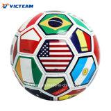 Promoción de la mayorista la bandera del país PVC pelota de fútbol