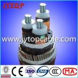Conducteur en aluminium Mv kv 12/20Câble isolé en polyéthylène réticulé 3x120mm carrés