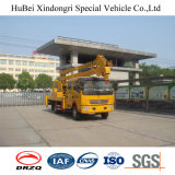 Dongfengの空気の持ち上がる表の働くトラック