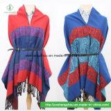 販売のネパール様式のカシューのジャカードスカーフの方法Pashminaの熱いショール