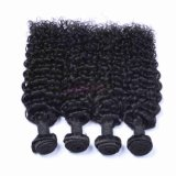 Capelli di trama profondi indiani di Remy dei capelli umani dell'arricciatura 100%