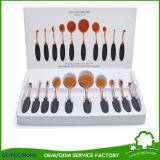 Escova cosmética profissional de múltiplos propósitos ajustada da composição do PCS da forma 10 do Toothbrush das ferramentas da composição