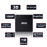 Androider Kasten Fernsehapparat-M95 mit Amlogic S905W 1GB RAM/8GB ROM-Support WiFi, 1080P HD, 4K, intelligenter Fernsehapparat-Kasten