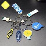 カスタムPVCプラスチック革シリコーンのトヨタ車のロゴの金属Keychain