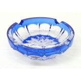 Vidro de cristal azul cinzeiro do Molde