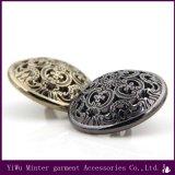 Acessórios de vestuário de alta qualidade botão circular metálica para vestuário de costura