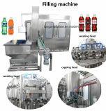 Газ содержит Carbonated производственную линию машинного оборудования завалки питья напитка напитка для бутылки бутылочного стекла любимчика