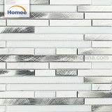 La nueva tira de aluminio de diseño cuarto de baño Backsplash mosaico de vidrio