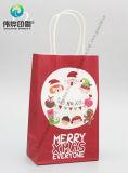 Подарка бумаги рождества покупкы конструкции способа печатание мешок изготовленный на заказ упаковывая