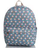 Estilo de Impressão Floral Backpack, impressão em destaque mochila Série College Saco de lazer do vento