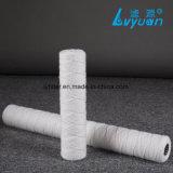 Alto cartucho de filtro del hilado de los PP del algodón del micrón del índice de corriente