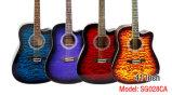 Китай Aiersi 41 дюйма стеганая кожи цвета сверху акустическая гитара