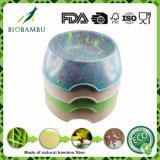 Bacia de bambu de /Drinking do alimento de animal de estimação da fibra do projeto novo (YK-P6006-1)