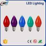 E14 기본적인 초 빛 C35 LED에 의하여 꼬리가 달리는 전구