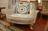 Sofá real clásico de la tela del estilo de madera sólida Sb56