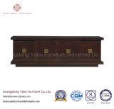 5 Star Hotel madera sólida gabinete de la TV con el almacenamiento