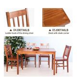 Dinette 4 사람 테이블을 식사하는 Merax 5PC와 의자는 놓았다 부엌 (갈색)를 식사하는 Soild 소나무를