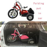 二重シートが付いているFoldable移動性3の車輪のEスクーター