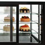De voor Vierkante Showcase van de Cake van het Glas, de Koeler van de Vertoning van het Gebakje van de Basis van het Graniet
