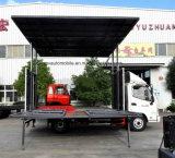 Voertuig 6 van het Stadium van Foton 30m2 Verlengbaar het OpenluchtStadium die van Wielen Vrachtwagen uitvoeren