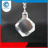 Aangepaste In het groot Promotie LEIDENE van het Kristal van de Kubus van de Bol 3D Laser Gegraveerde Keychain