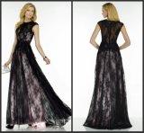 Рукава с матерью невесты платье черный кружевной розовый вечер платье A5787
