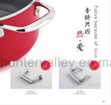 ステンレス鋼の鍋の側面のハンドルの空の鋳造