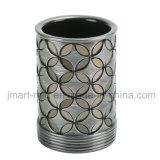 Insieme dell'accessorio del bagno della vernice della mano di Polyresin di rivestimento dello specchio del mosaico