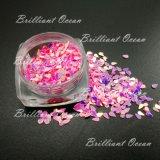 Сверкание Water-Drop Shaoe Блестящие цветные лаки пайетками по лак для ногтей красоты, оформление